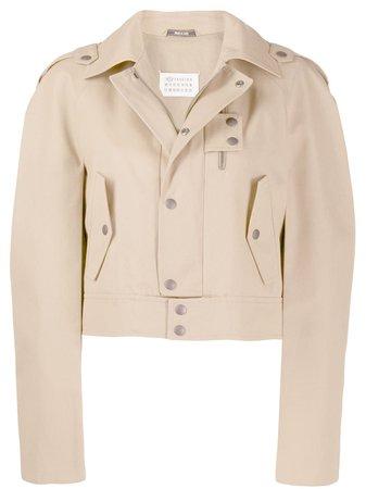 Maison Margiela, cropped trench jacket