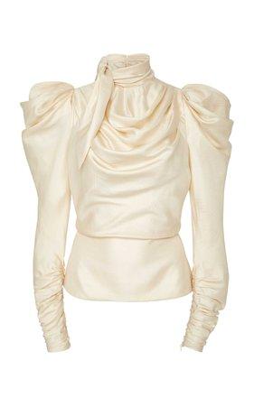 Scarf Bodice Silk Top by Zimmermann   Moda Operandi