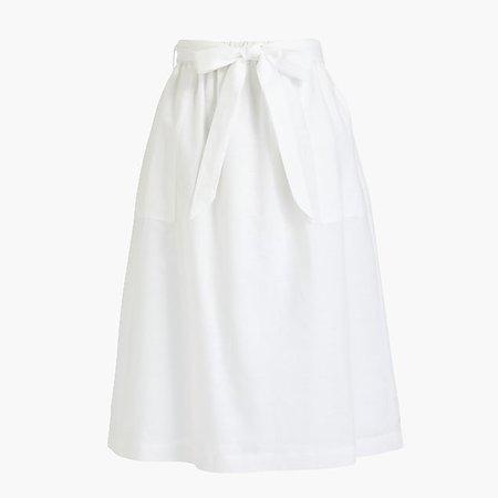J.Crew Factory: Pull-on bow midi skirt