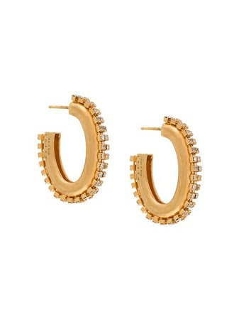 Marni crystal-embellished Hoop Earrings - Farfetch