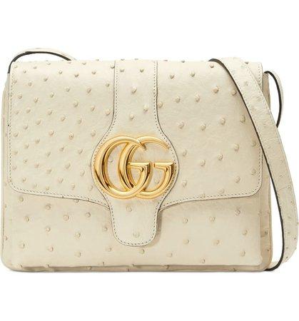 Gucci Medium Arli Ostrich Crossbody Bag | Nordstrom