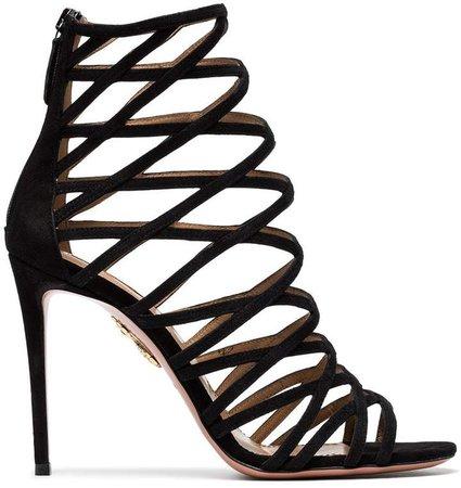 Black Knockout 105 Suede sandals