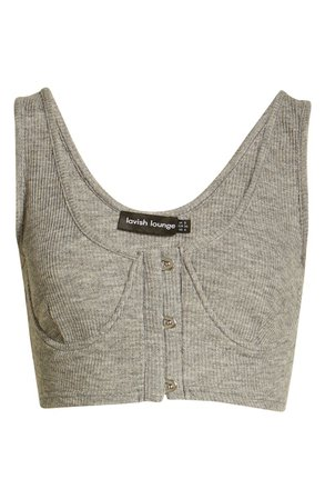 Lavish Alice Corset Style Ribbed Crop Camisole | Nordstrom