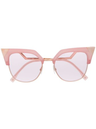 Fendi Eyewear Pointed Cat Eye Sunglasses - Farfetch