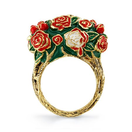 Disney X RockLove Alice in Wonderland Painting the Roses Ring – RockLove Jewelry