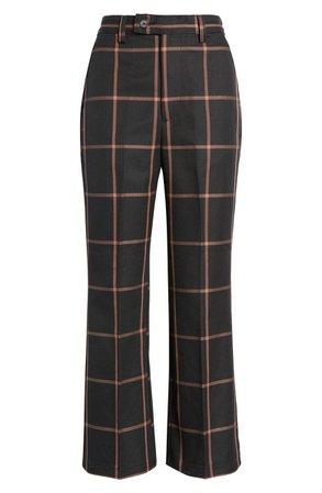 Math Club Windowpane Check Crop Pants | Nordstrom
