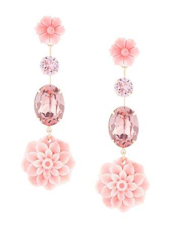 Jennifer Behr Nathalie floral-drop Earrings - Farfetch