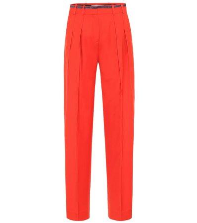 Victoria Victoria Beckham - Wool-blend straight-leg pants | Mytheresa