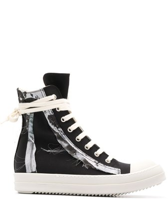 Rick Owens Drkshdw High-Top Lace-Up Sneakers Ss20 | Farfetch.com