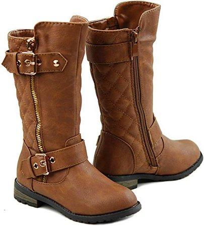 Girls Knee High Flat Riding Boots