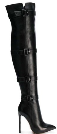 Gianni Renzi Buckled Thigh High Boots