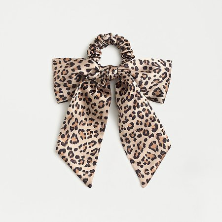 J.Crew: Satin Scrunchie With Bow For Women