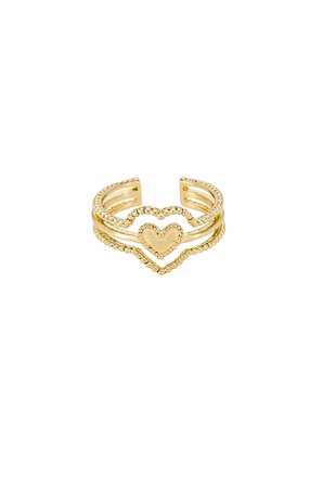The Beaded Heart Ring