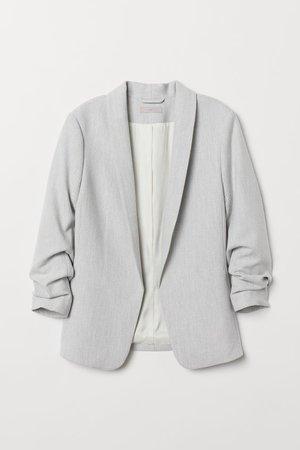 Saco con cuello esmoquin - Gris claro - Ladies | H&M MX