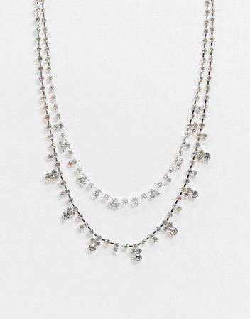 Liars & Lovers multirow necklace with rhinestone embellishment | ASOS
