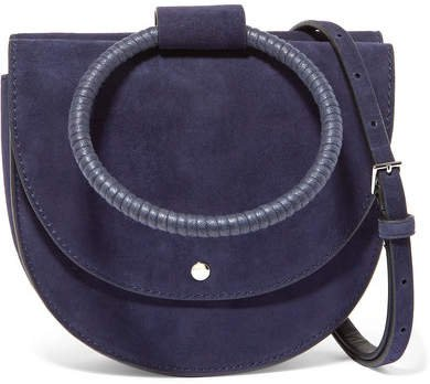 Whitney Suede Shoulder Bag - Navy