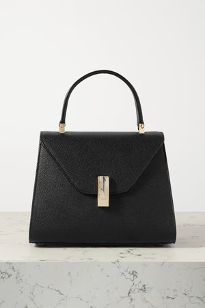 Black Iside small textured-leather tote   Valextra   NET-A-PORTER