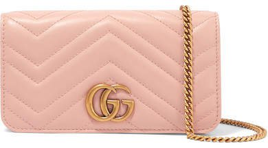 Gg Marmont Mini Quilted Leather Shoulder Bag - Baby pink