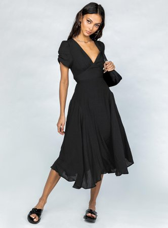 Felleni Midi Dress Black