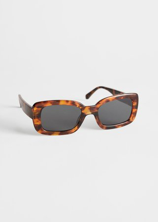 Rectangular Frame Sunglasses - Tortoise - Sunglasses - & Other Stories