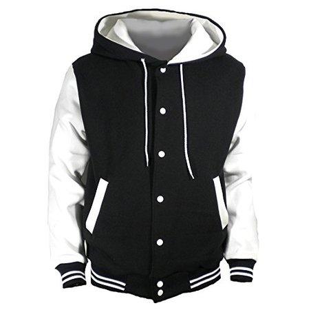 Varsity Lettermans Jacket with Hood