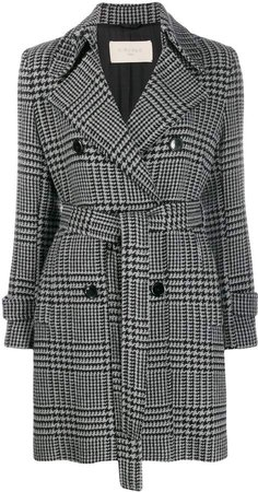 Circolo houndstooth double-breasted coat