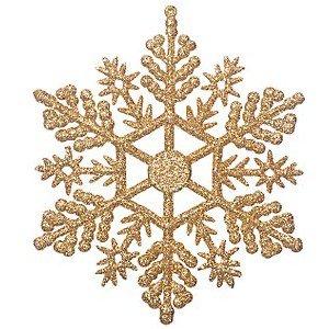 John Lewis Glitter Snowflakes, Gold, Set of 12 - Clip Art Library