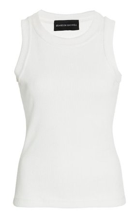 Ribbed-Knit Tank Top By Brandon Maxwell | Moda Operandi