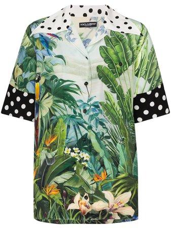 Dolce & Gabbana Chemise Imprimée à Manches Courtes - Farfetch