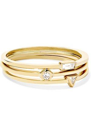Jennifer Meyer | Set aus drei Ringen aus 18 Karat Gold mit Diamanten | NET-A-PORTER.COM