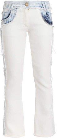 Two-Tone Rigid Mid-Rise Skinny Jean