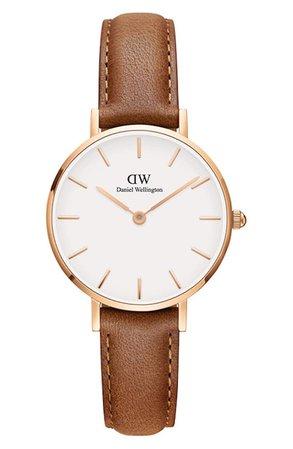 Daniel Wellington Classic Petite Leather Strap Watch, 28mm | Nordstrom