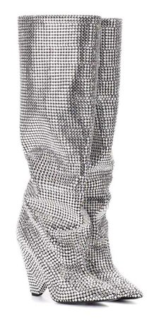 YSL Swarovski Crystal Embellished Boots