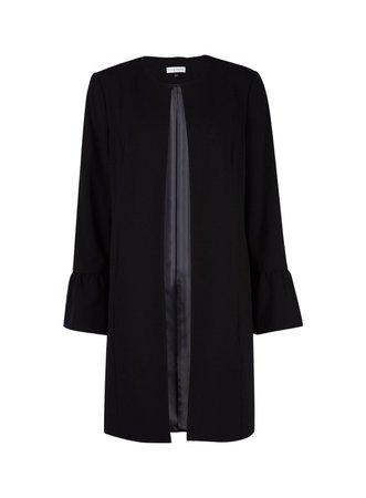 **Lilly & Franc Black Long Duster Coat - Jackets & Coats - Clothing - Dorothy Perkins United States
