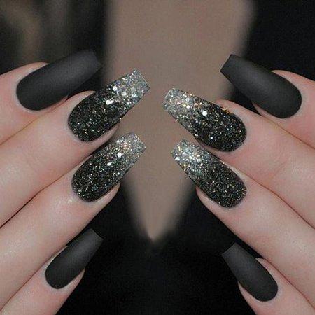 black nail designs - Google Search