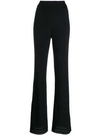 Black Golden Goose flared ribbed trousers - Farfetch
