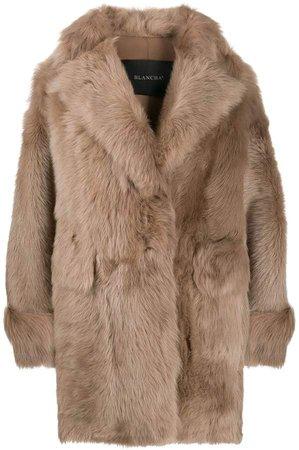 Blancha short fur coat