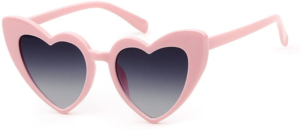 Amazon.com: Love Heart Shaped Sunglasses Women Vintage Cat Eye Mod, Pinkblack, Size Large: Shoes