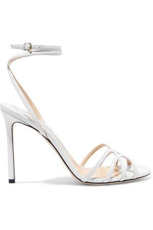Jimmy Choo | Mimi 100 leather sandals | NET-A-PORTER.COM