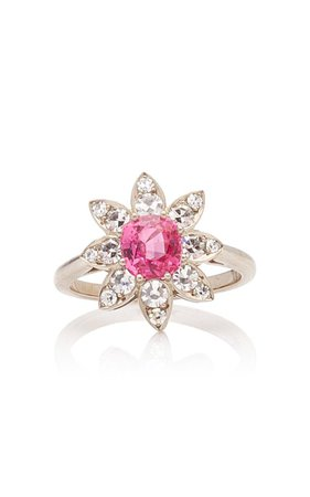One of a Kind Vibrant Pink Flower Ring by Margaret Jewels | Moda Operandi