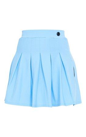 Mint Green Pleated Side Split Tennis Skirt | PrettyLittleThing USA