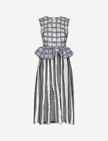 HUISHAN ZHANG - Veronica sequin-embellished tulle midi dress | Selfridges.com