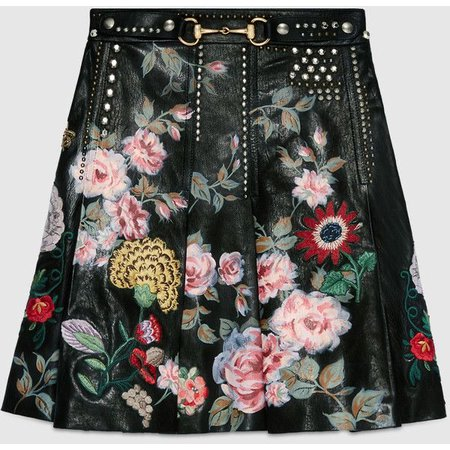 Gucci Hand-Painted Leather Skirt ($7,530)