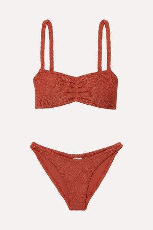 Trina Seersucker Bikini - Brick