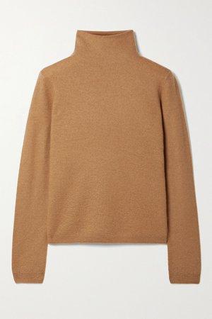 Tan Cashmere turtleneck sweater | Vince | NET-A-PORTER