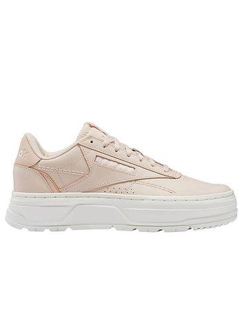Reebok Club C Double Geo platform sneakers in soft pink   ASOS