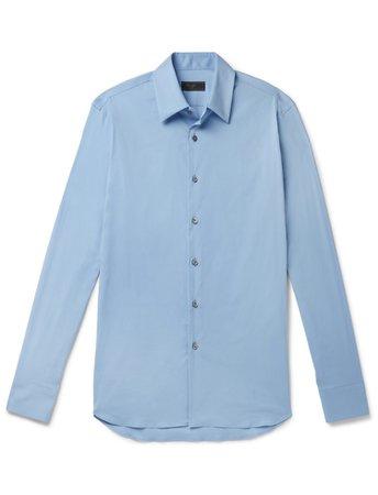 Prada Blue Men's Shirt