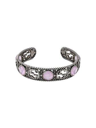 Gucci Interlocking G Flower Cuff 607105J7457 Silver | Farfetch