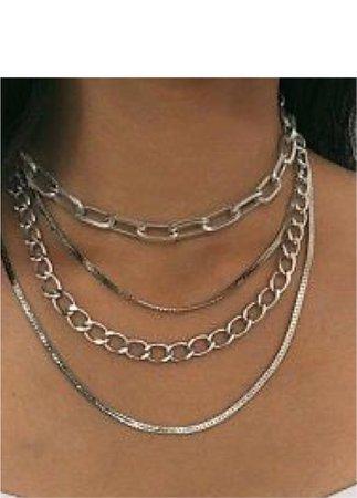 silver chain set