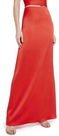 Maeve Slip Maxi Skirt With Slit